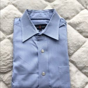 Robert Talbott dress shirt blue/white pinstripes
